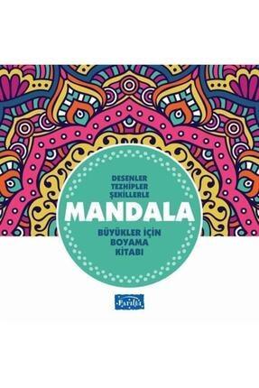 Parıltı Yayıncılık Desenler Tezhipler Şekillerle Mandala - Turkuaz Kitap - Büyükler Için Boyama Kitabı 0