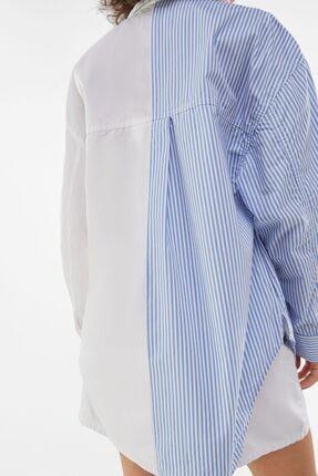 Bershka Kadın Beyaz Poplin Ince Ceket 2