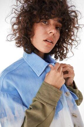 Bershka Kadın Haki Batik İnce Ceket 2