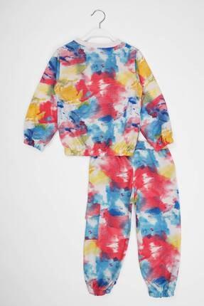 zepkids Kız Çocuk Eşofman Takımı Batik Desenli 6-9 Yaş 4
