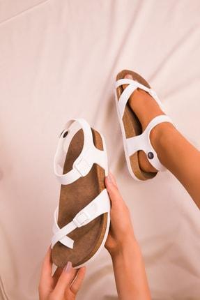 Soho Exclusive Beyaz Kadın Sandalet 15922 1