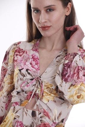 CANTAUP Kadın Çiçek Desenli Elbise 1