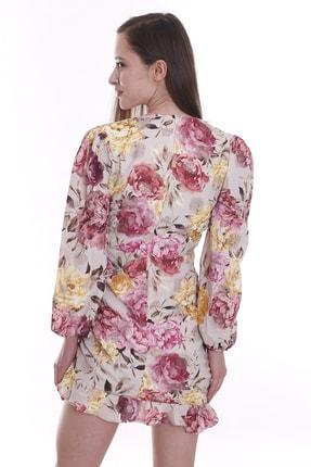 CANTAUP Kadın Çiçek Desenli Elbise 2