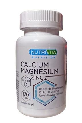 Nutrivita Nutrition Calcium (kalsiyum) Magnesium (magnezyum) Zinc Vitamin D 120 Tablet Stk 01/2024 0