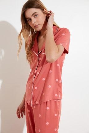 TRENDYOLMİLLA Puantiyeli Örme Pijama Takımı THMAW21PT0295 1