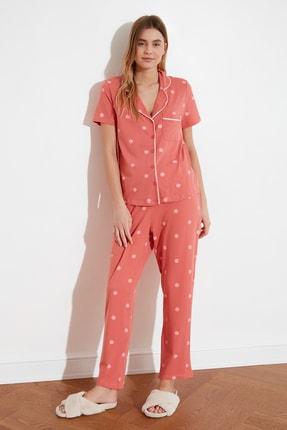 TRENDYOLMİLLA Puantiyeli Örme Pijama Takımı THMAW21PT0295 3