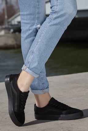 Daxtors Unisex Siyah Günlük Ortopedik Sneaker D044 1