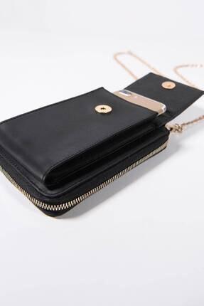 Addax Kadın Siyah Telefon Bölmeli Cüzdan Çantası Czdn74 - F6 Adx-0000022976 2