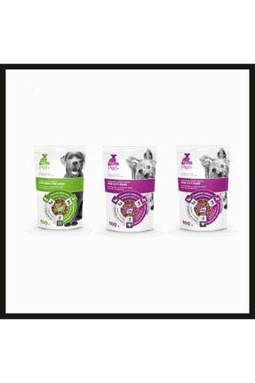 + Köpekler için Ödül Maması Paketi 3'lü (3x100 Gr) (1x Kuzulu, 2x Tavuklu) PETPLUS0012