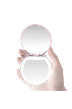 exeo Led Işıklı Mini Cep Makyaj Aynası 3x Büyüteç Katlanabilir 1