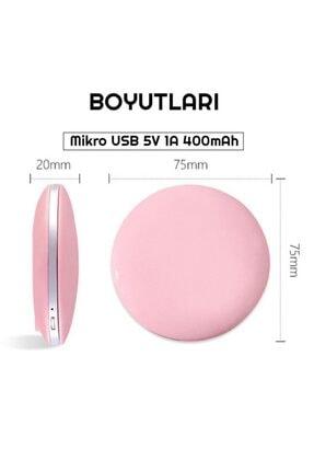 exeo Led Işıklı Mini Cep Makyaj Aynası 3x Büyüteç Katlanabilir 3