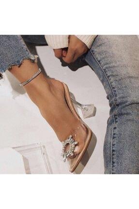 Giydim Gidiyor Sindirella Kristal Taşlı Topuklu Stiletto Şeffaf 1
