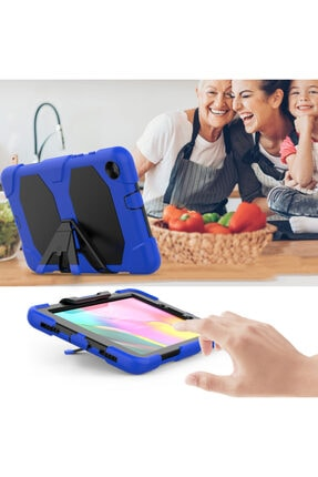 PHONACS Samsung Galaxy Tab A8 Sm-t290 Ekran Koruyuculu Stantlı Tam Koruma Tank Tablet Kılıfı 3