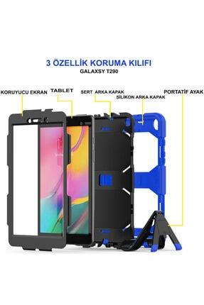 PHONACS Samsung Galaxy Tab A8 Sm-t290 Ekran Koruyuculu Stantlı Tam Koruma Tank Tablet Kılıfı 4