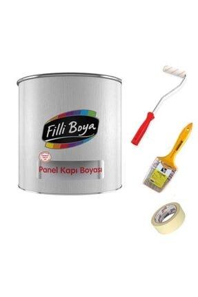 Filli Boya Panel Kapı Boyası Seti Su Bazlı Yarı Mat 2,5 L Hasır Kullanıma Hazır Rulo+band+fırça 3