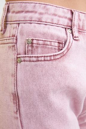 TRENDYOLMİLLA Pembe Yüksek Bel Mom Jeans TWOSS21JE0172 3