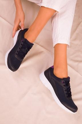 Soho Exclusive Lacivert-Mor Kadın Sneaker 15930 0