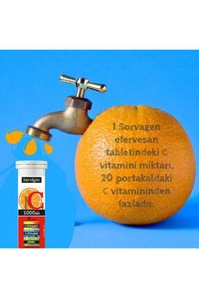 Sorvagen C Vitamini 1000 Mg Plus 3'lü Etki(c Vitamini + D Vitamini + Çinko) -3 Adet X 15 Efervesan Tablet 1