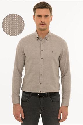 Picture of Açık Kahverengi Slim Fit Gömlek