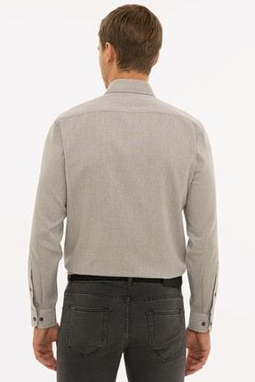Pierre Cardin Erkek Açık Kahverengi Slim Fit Gömlek G021GL004.000.1214482 2