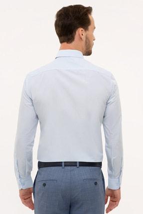 Pierre Cardin Açık Mavi Slim Fit Basic Gömlek 2