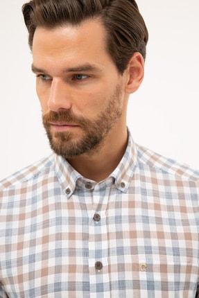 Pierre Cardin Erkek Kahverengi Detaylı Regular Fit Gömlek G021GL004.000.1113560 1