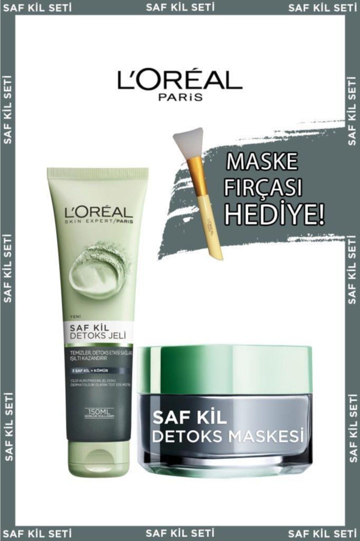 Saf Kil Detoks Jel + Saf Kil Detoks Maskesi + Maske Fırçası