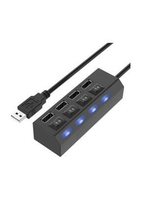 checkmate 4 Port Usb Hub 2.0 Çoklayıcı Anahtarlı Işıklı Çoğaltıcı Switch 0