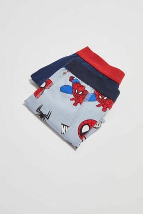 LC Waikiki Spiderman Erkek Çocuk Gri Baskılı Lrw Boxer 1