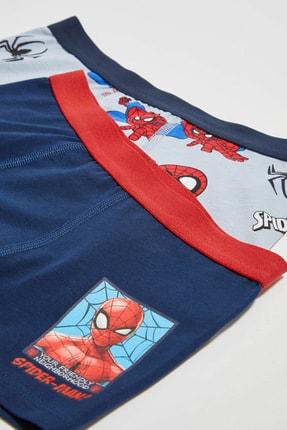 LC Waikiki Spiderman Erkek Çocuk Gri Baskılı Lrw Boxer 4