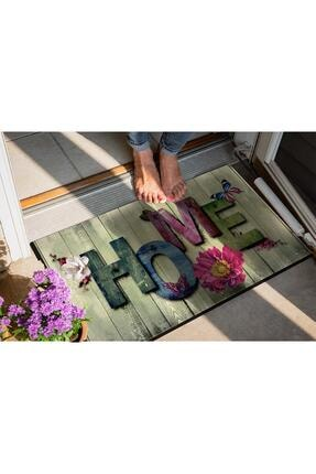 Evsebu Ahşap Renkli Home Dekoratif Kapı Önü Paspası 2