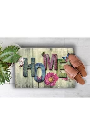 Evsebu Ahşap Renkli Home Dekoratif Kapı Önü Paspası 3