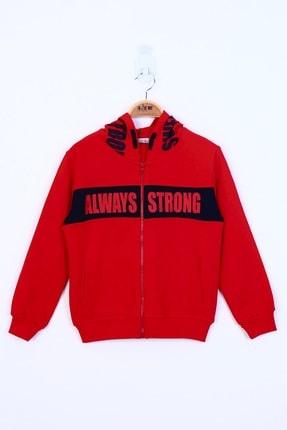 Picture of Erkek Çocuk Kırmızı Always Strong Baskılı Hırka