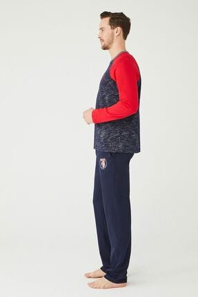 US Polo Assn Erkek Lacivert Yuvarlak Yaka Pijama Takım 1
