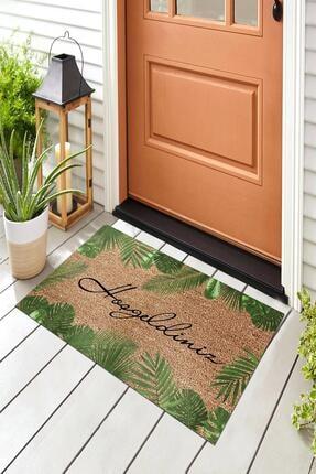 Evsebu Hoşgeldiniz Yaprak Dekoratif Kapı Önü Paspası 4