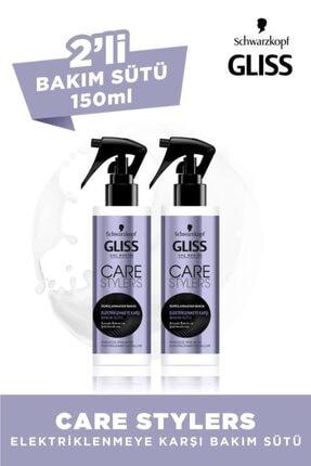 Gliss Care Stylers Elektriklenmeye Karşı Saç Bakım Sütü 150 ML 2'li 0