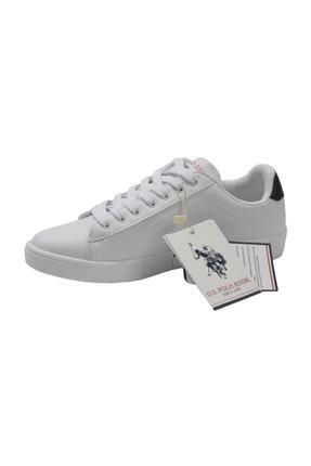 US Polo Assn Franco Unisex Beyaz Anatomik Günlük Spor Ayakkabı 2