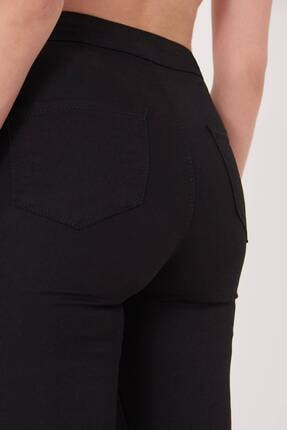 Addax Kadın Siyah Yüksek Bel Pantolon Pn10915 - G8Pnn Adx-0000013630 4