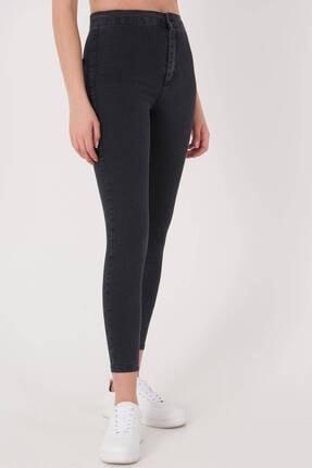 Addax Kadın Füme Yüksek Bel Pantolon Pn10915 - G8Pnn Adx-0000013630 0