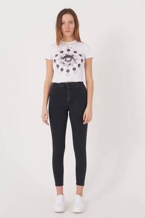 Addax Kadın Füme Yüksek Bel Pantolon Pn10915 - G8Pnn Adx-0000013630 1
