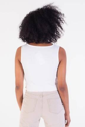 Addax Kadın Beyaz V Yaka Kolsuz Bluz B0799 - S6 ADX-0000021183 3