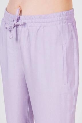 Addax Kadın Lila Bağlama Detaylı Pantolon 3