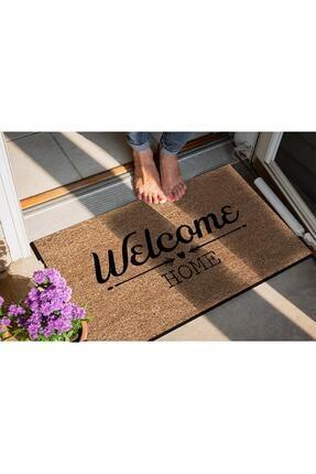 Evsebu Welcome Home Bej Dekoratif Kapı Önü Paspası 2