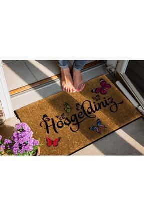 Evsebu Home Hoşgeldiniz Kelebek Dekoratif Çok Amaçlı Iç ve Dış Kapı Paspası 3