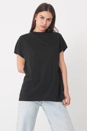 Addax Kadın Siyah Basic T-Shirt P0769 - U13 Adx-0000020933 2