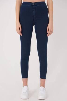 Addax Kadın Koyu Kot Rengi Yüksek Bel Pantolon Pn10915 - G8Pnn Adx-0000013630 3