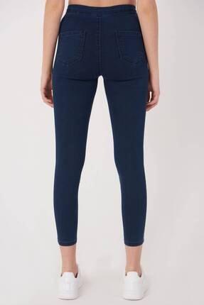 Addax Kadın Koyu Kot Rengi Yüksek Bel Pantolon Pn10915 - G8Pnn Adx-0000013630 4