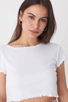 Addax Kadın Beyaz Basic T-Shirt P0972 - T7 Adx-0000022401 3