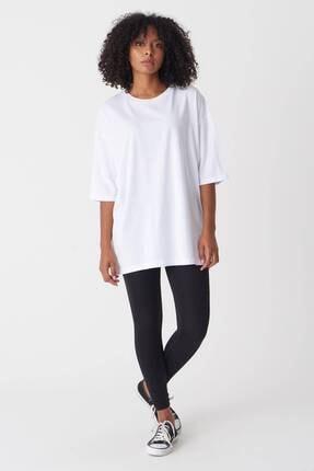 Addax Kadın Beyaz Baskılı T-Shirt P1029 - J1 Adx-0000022711 3