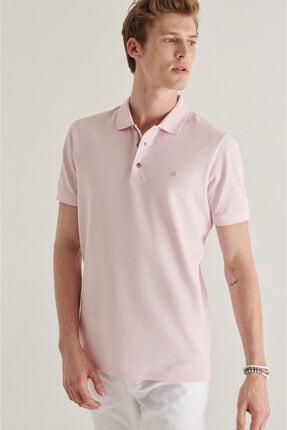Avva Erkek Açık Pembe Polo Yaka Düz T-shirt A11b1174 0